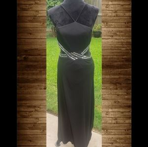 Black gown with cut-outs